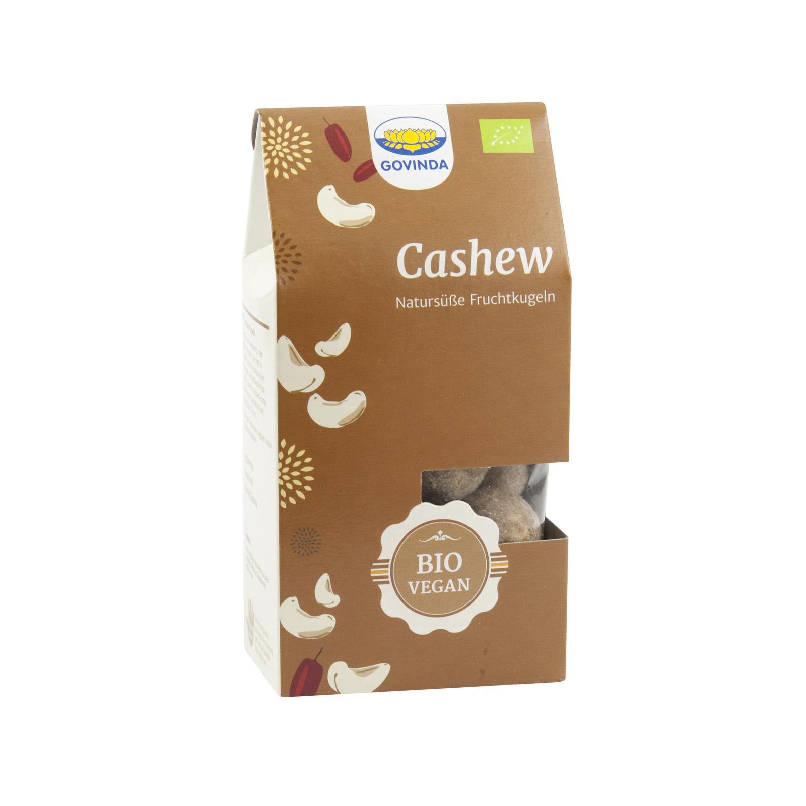 Govinda Datlové cukroví s kešu ořechy (pouze prodejna) 120 g