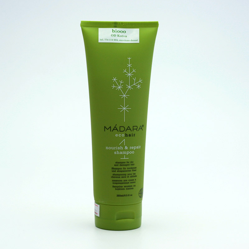 Mádara vzor Šampon pro suché a poškozené vlasy, nourish and repair 250 ml