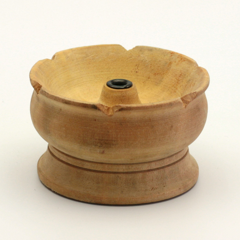 ostatní Stojánek dřevěný na nepálské široké tyčinky, menší talířek 1 ks