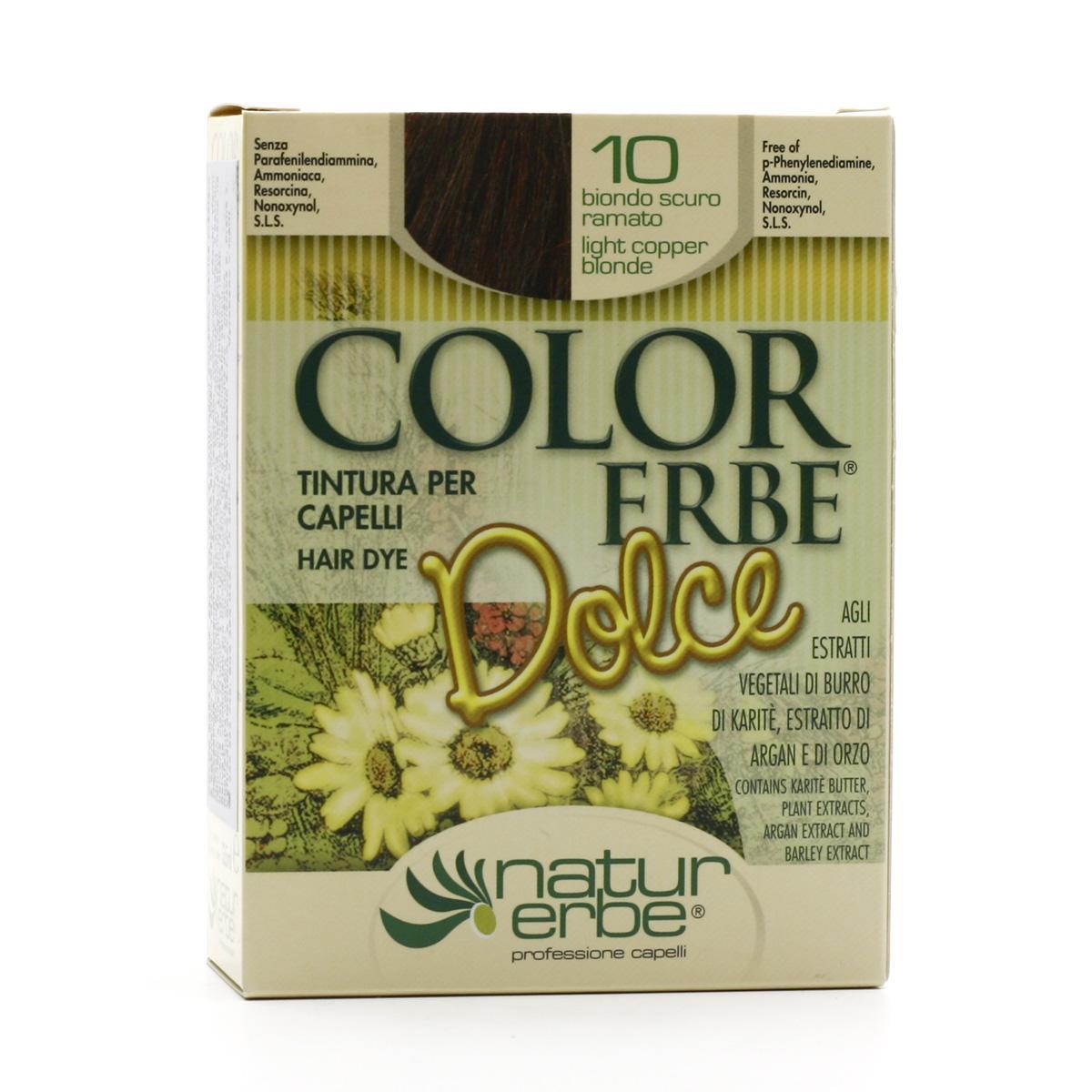 Color Erbe Barva na vlasy Měděná tmavá blond 10, Dolce 135 ml