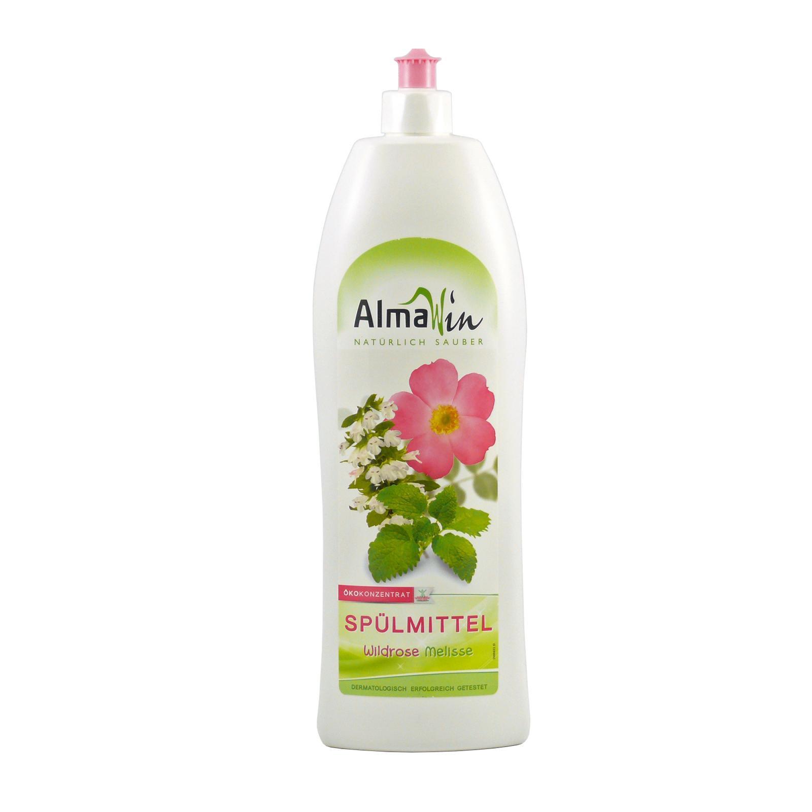 AlmaWin Prostředek na nádobí, divoká růže & meduňka 1 l