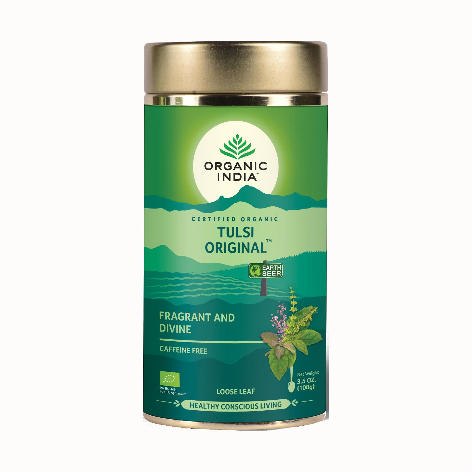 Organic India Čaj Tulsi Original, sypaný, bio 100 g