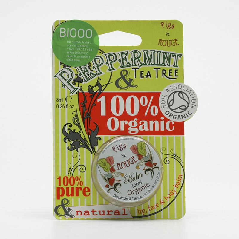 Figs and Rouge Balzám na rty Peppermint Tea Tree 8 ml