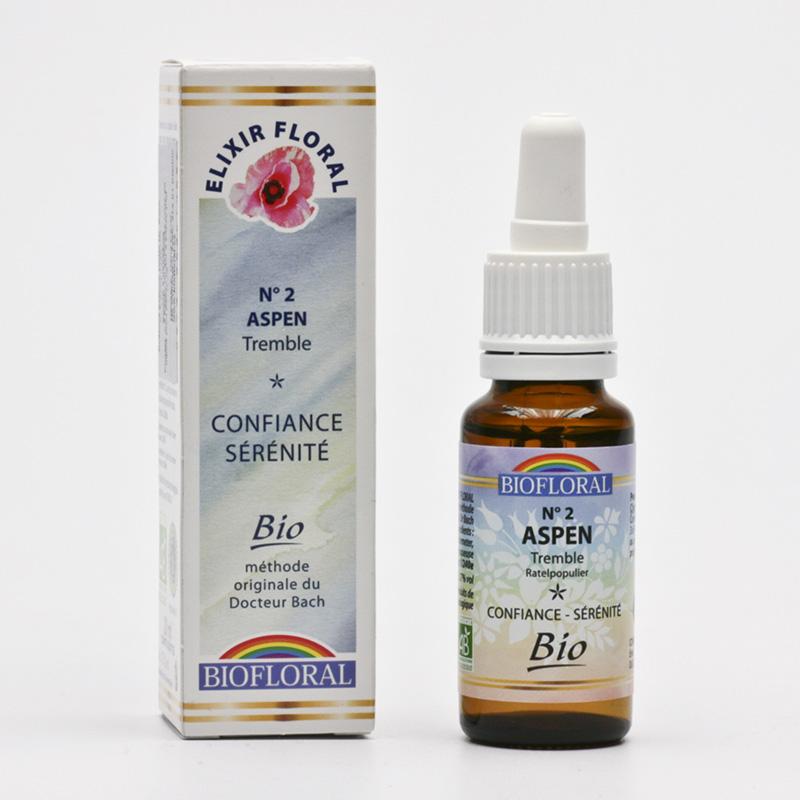 Biofloral Esence Aspen, květy Dr. Bach 20 ml
