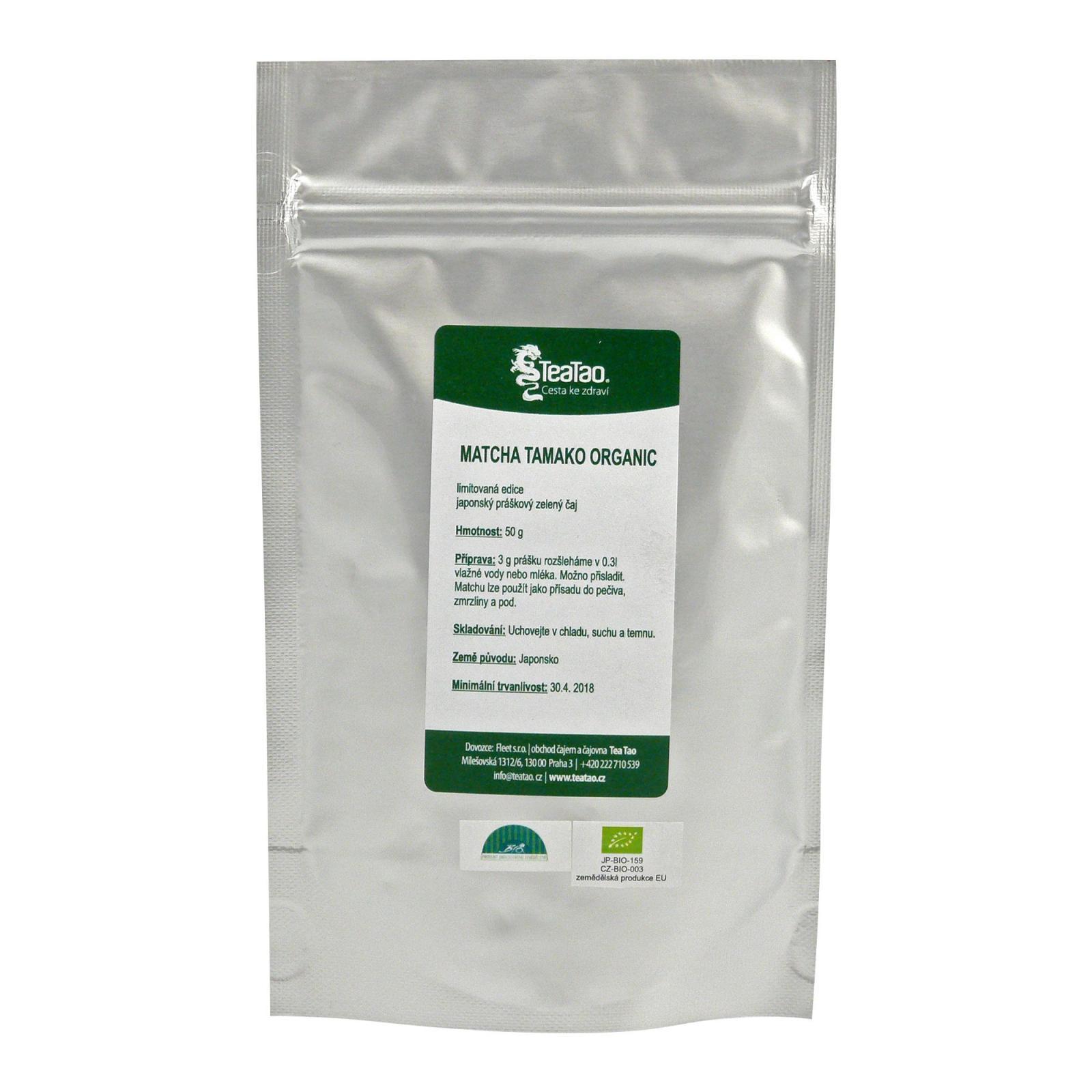 TeaTao Zelený čaj Matcha Tamako Organic 50 g