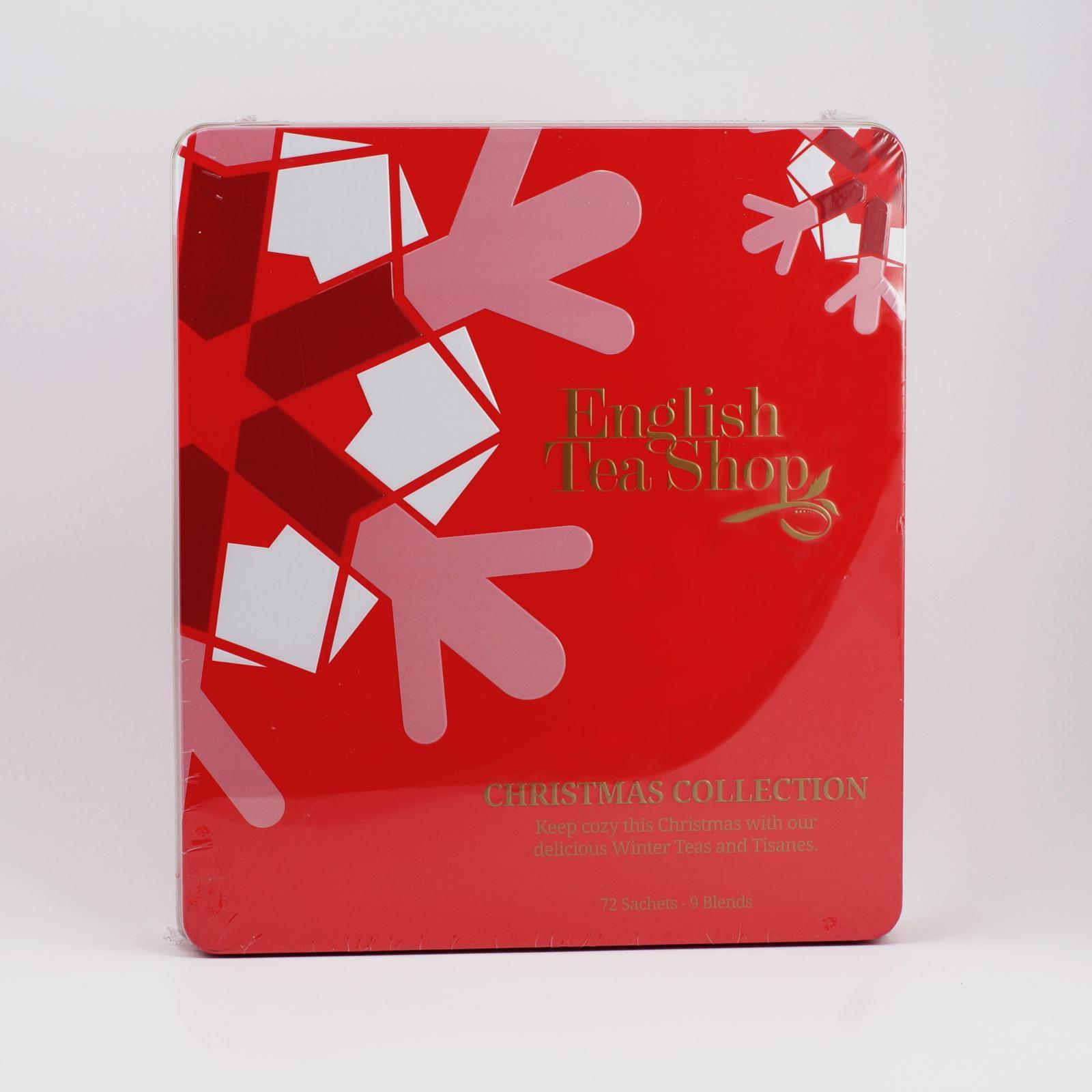 English Tea Shop Červené Vánoce, plechová kazeta 72 ks, 108 g