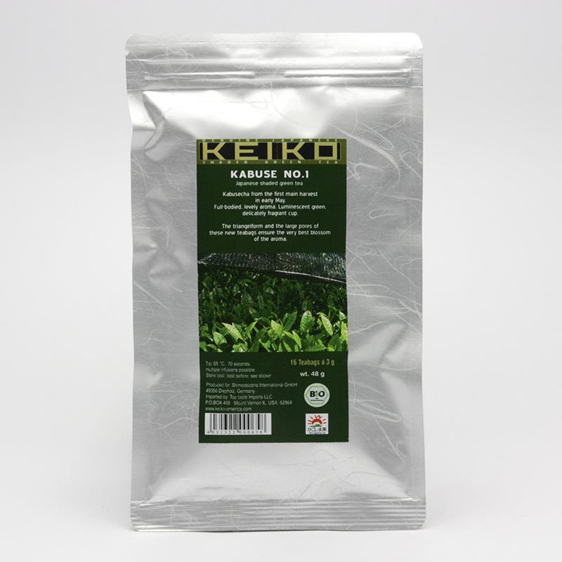 Keiko Zelený čaj Kabuse No 1, pyramidky, bio 48 g, 16 ks