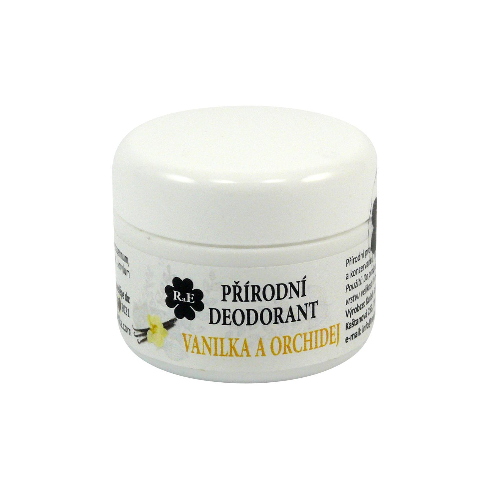 RaE Přírodní krémový deodorant s vůní vanilky a orchideje 15 ml náplň