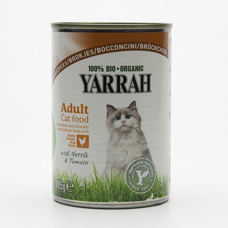 Yarrah Kousky kuřecí pro kočky 405 g