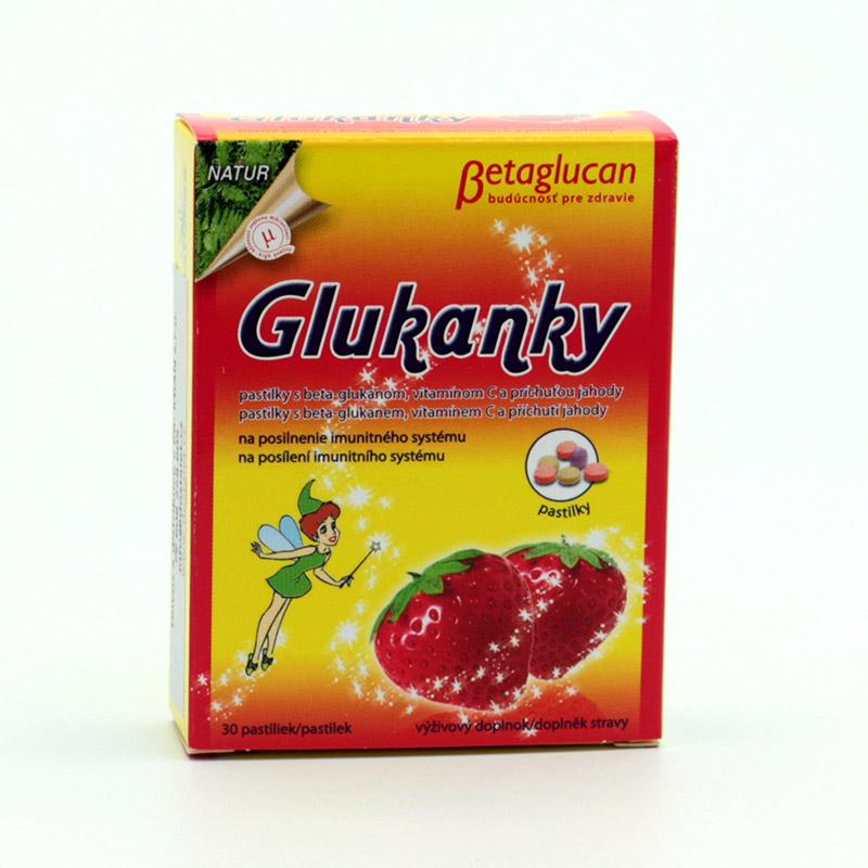 Natures x Glukanky jahoda, s beta glukanem 30 pastilek
