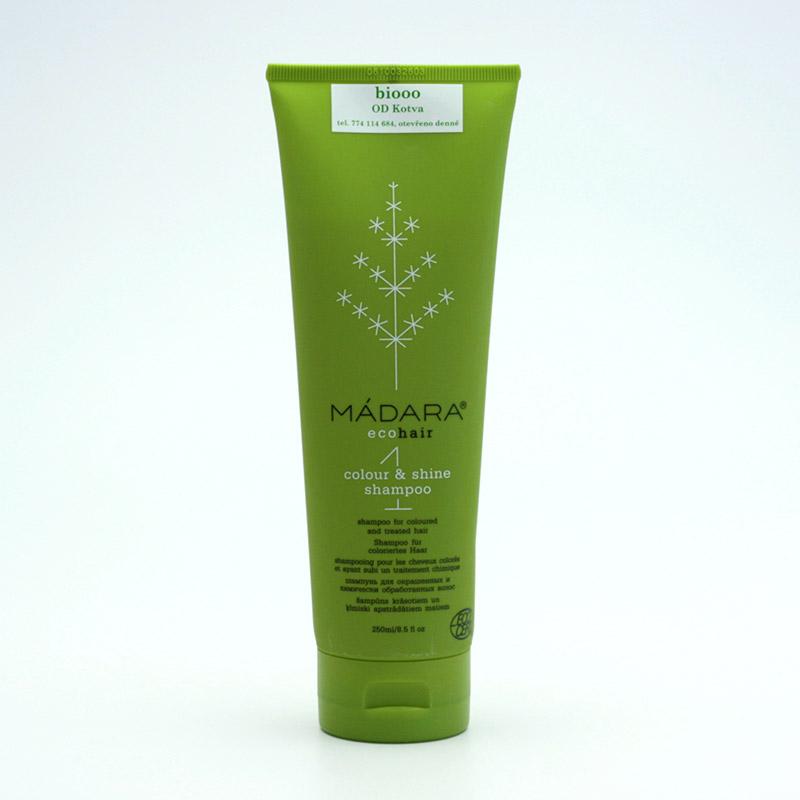 Mádara vzor Šampon pro suché a barvené vlasy, colour and shine 250 ml