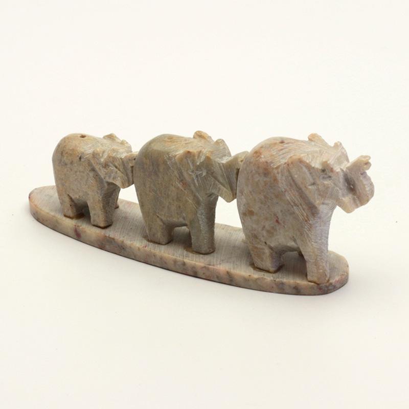 ostatní Stojánek kamenný na vonné tyčinky, sloni v řadě 1 ks