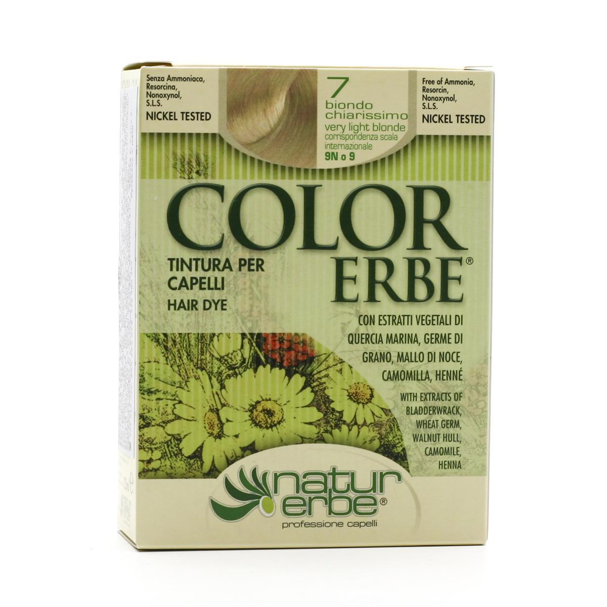 Color Erbe Barva na vlasy Velmi světlá blond 07, Natur 135 ml