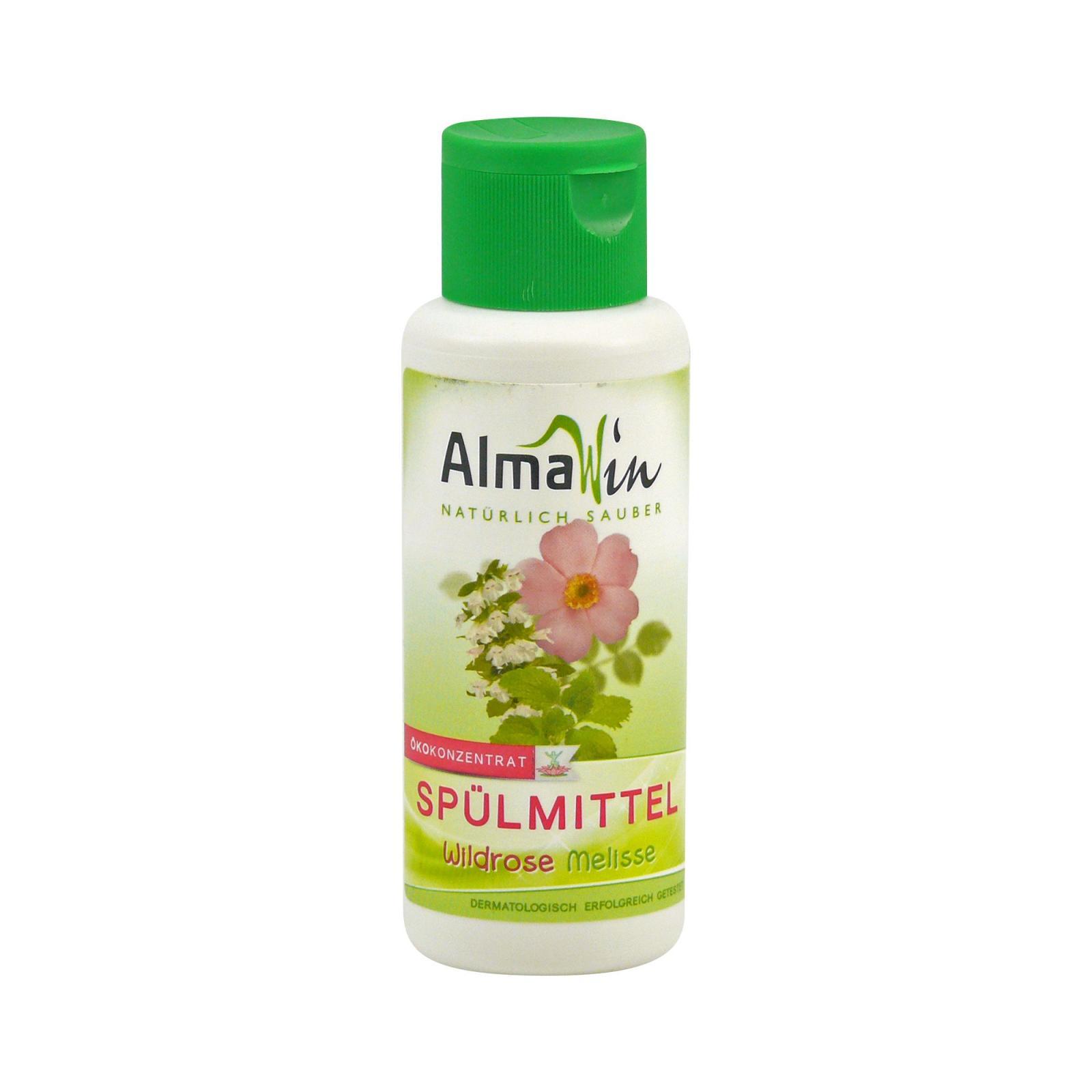 AlmaWin Prostředek na nádobí, divoká růže & meduňka 100 ml