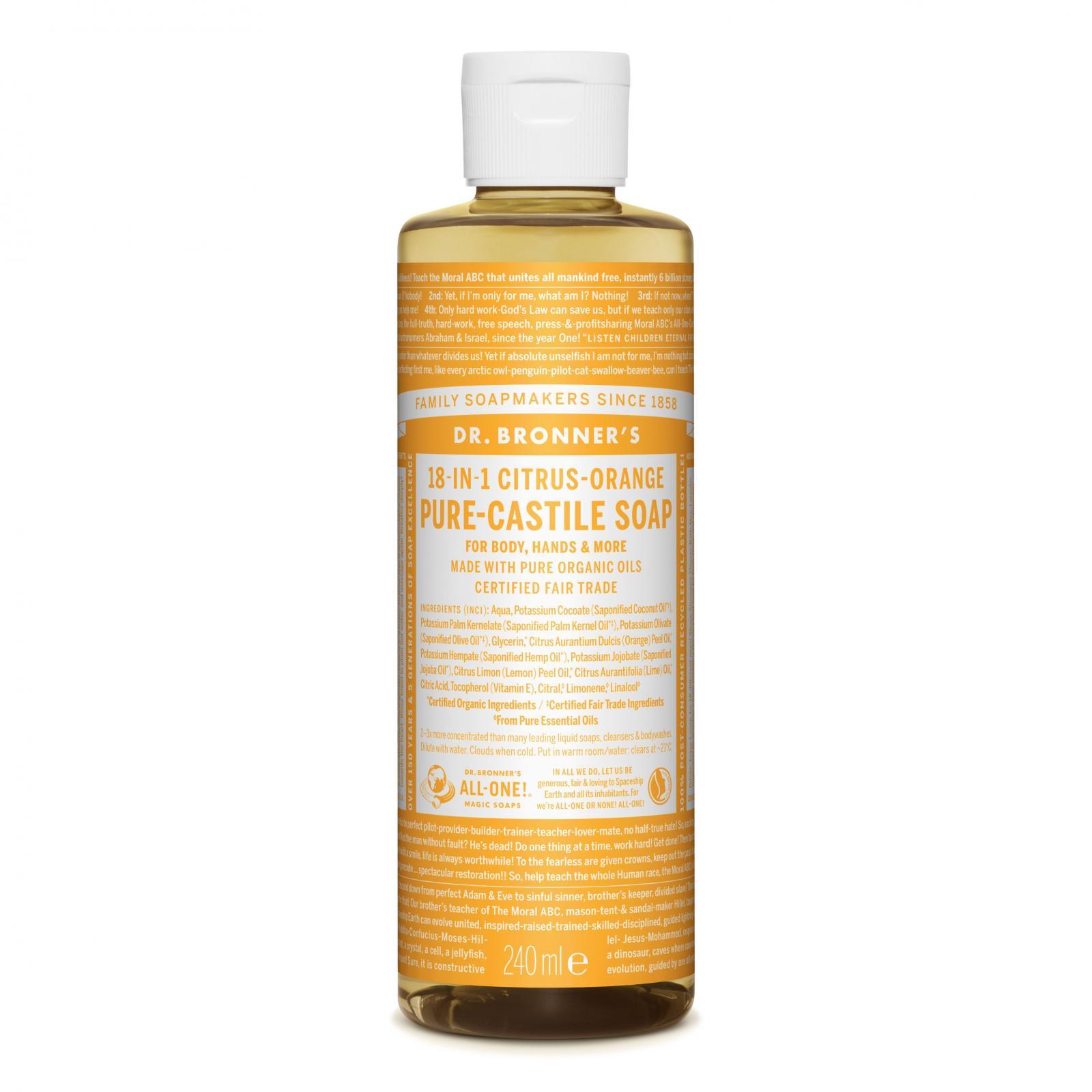 Dr. Bronner´s Tekuté universální mýdlo ALL-ONE!, Citrus-Orange 236 ml