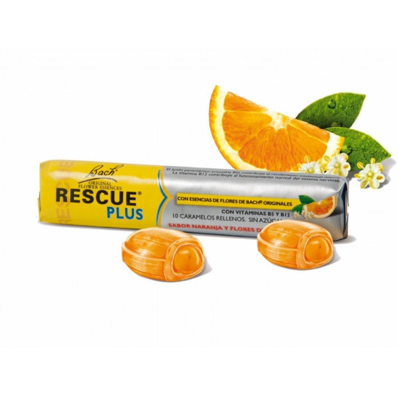 Dr. Bach Krizové bonbony s vitamíny, Rescue Plus 10 ks, 42 g