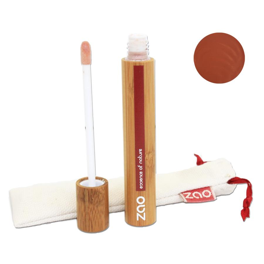 ZAO Lesk na rty 004 Brown 9 ml bambusový obal
