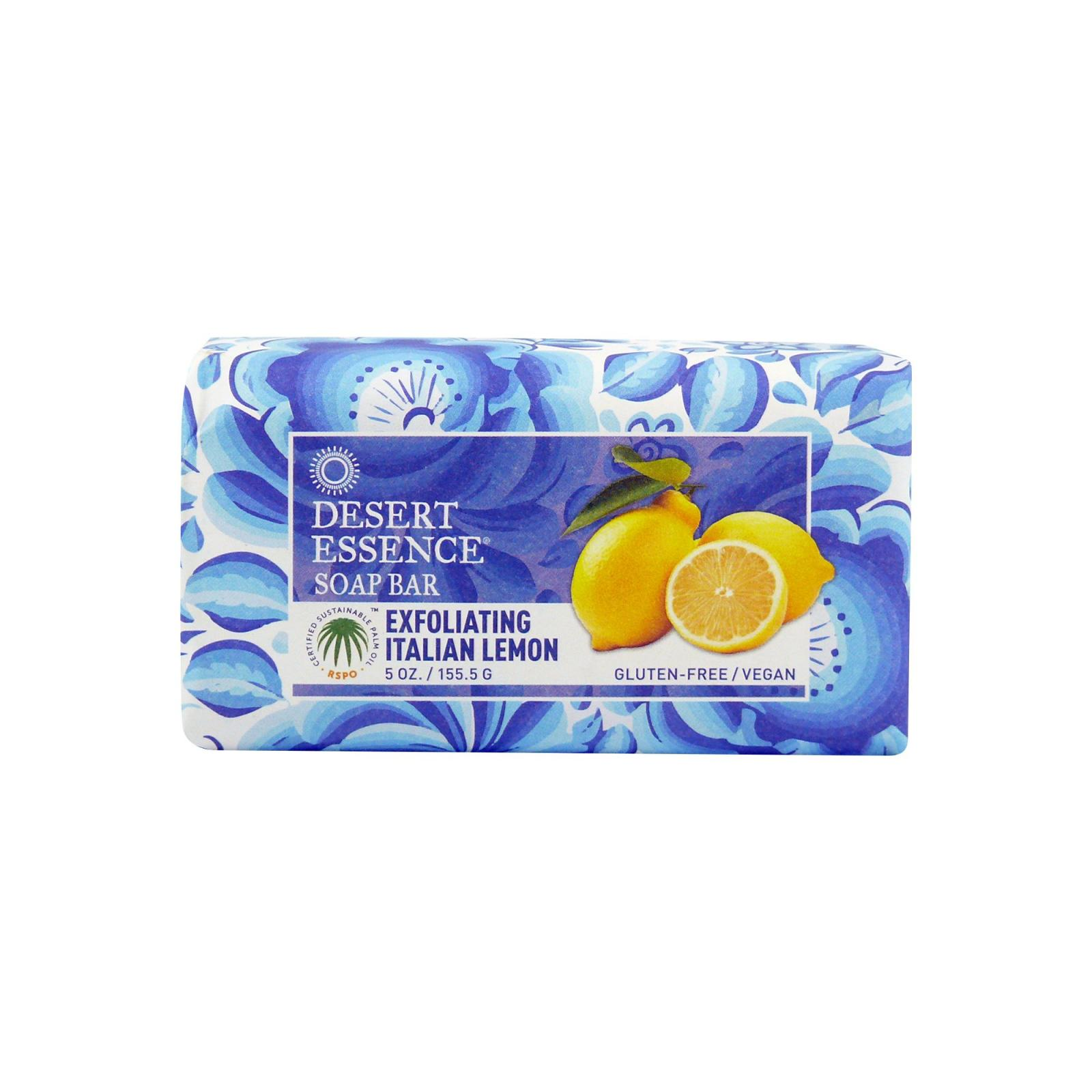 Desert Essence Tuhé peelingové mýdlo italský citron 155 g