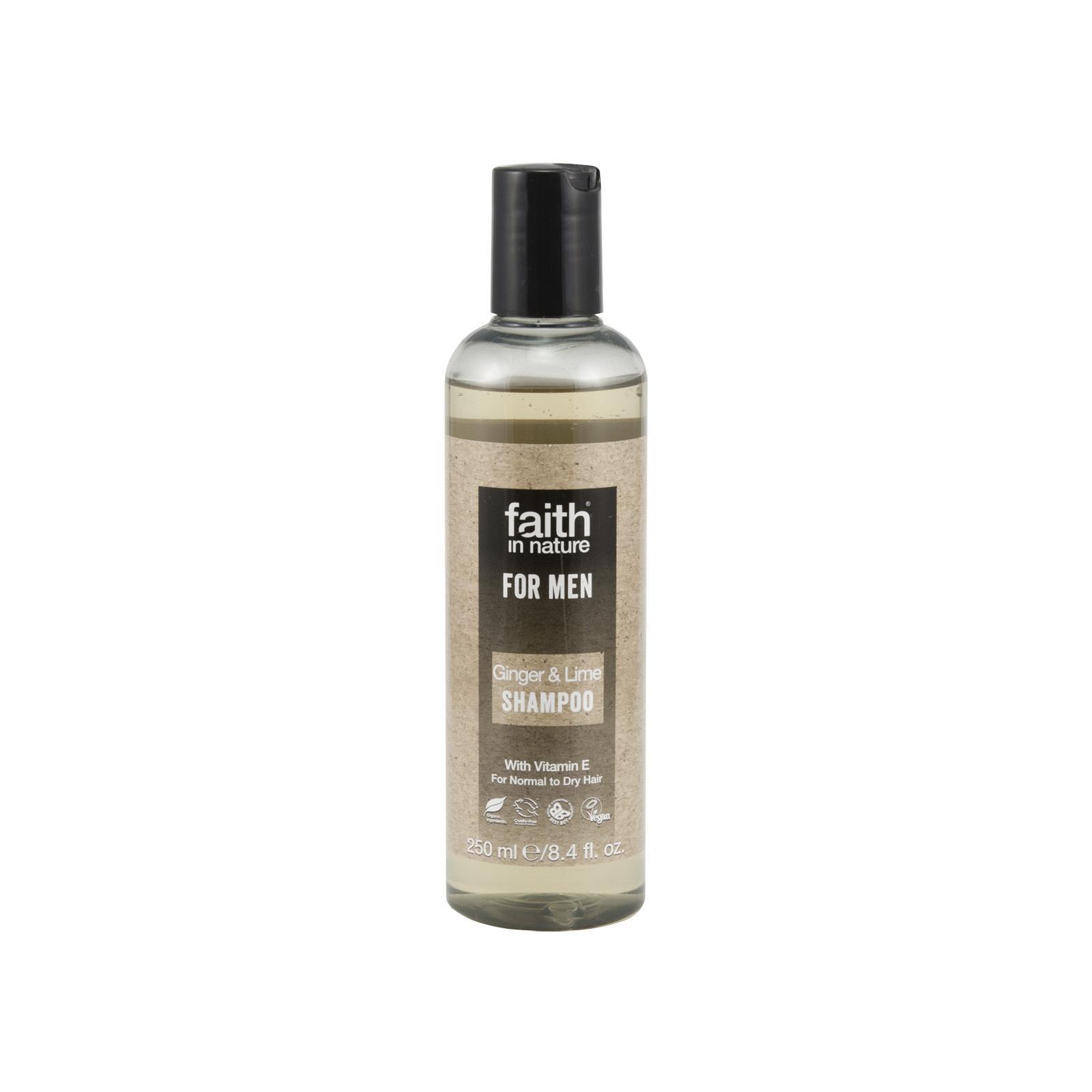 Faith in Nature Šampon zázvor & limeta, Faith for men 250 ml