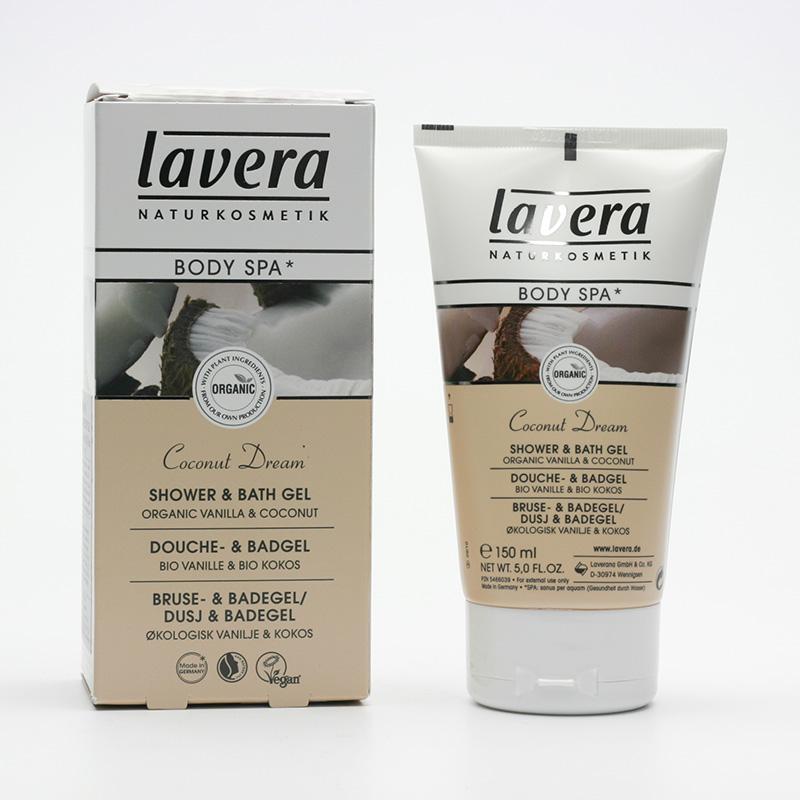 Lavera Sprchový a koupelový gel vanilka a kokos, Body Spa 150 ml