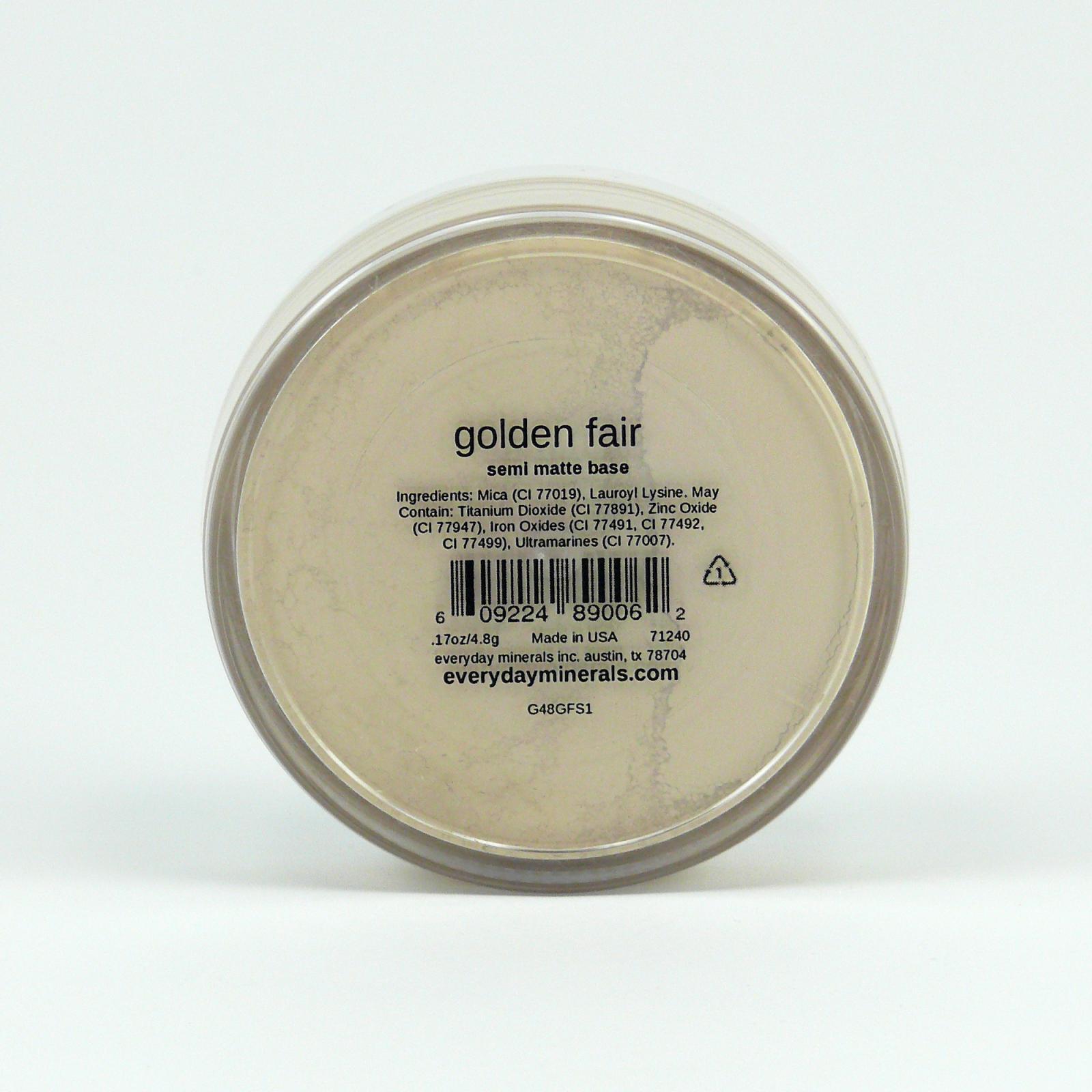 Everyday Minerals Minerální make-up Golden Fair, Semi-matte 4,8 g