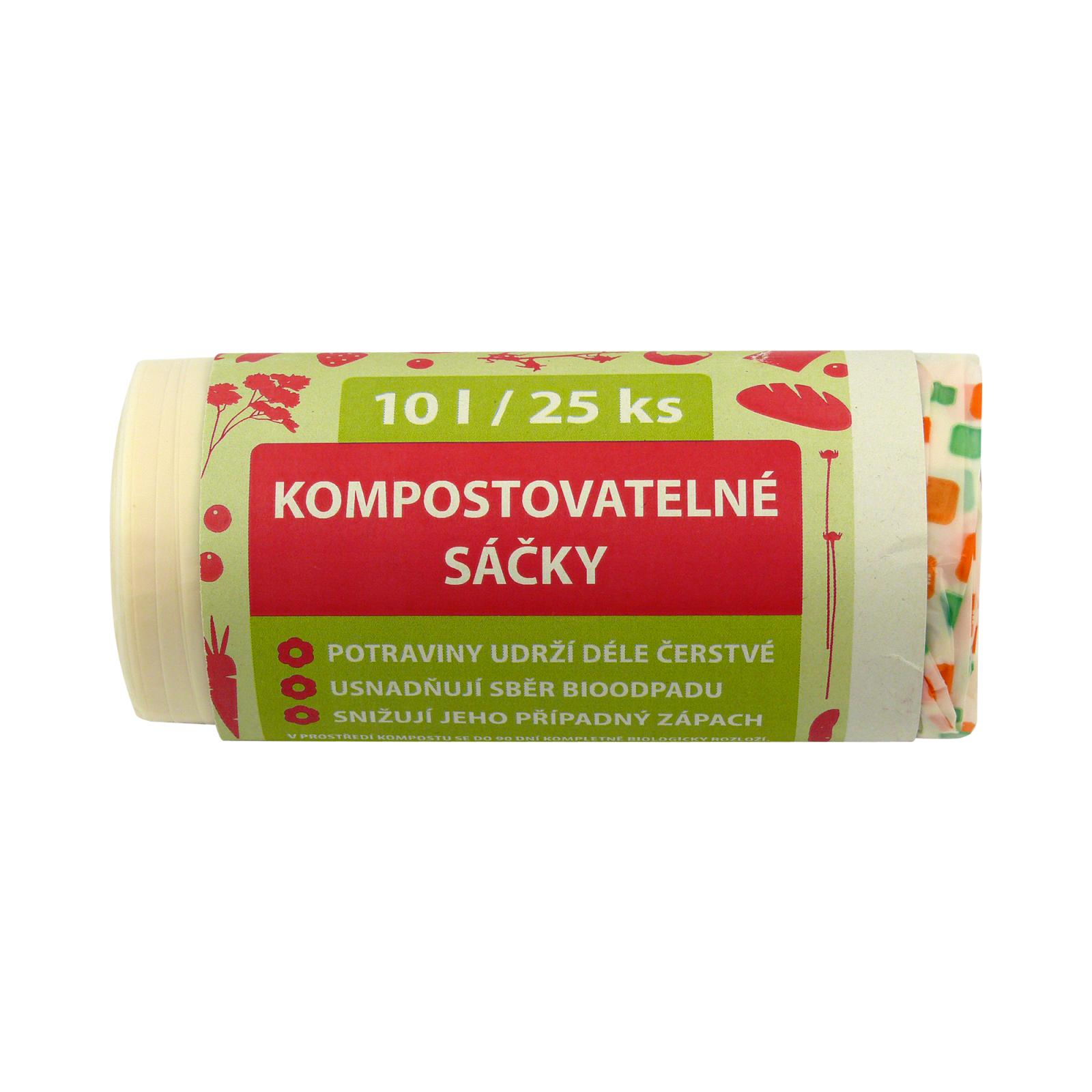 Kompostuj.cz Kompostovatelné sáčky 10 l 25 ks