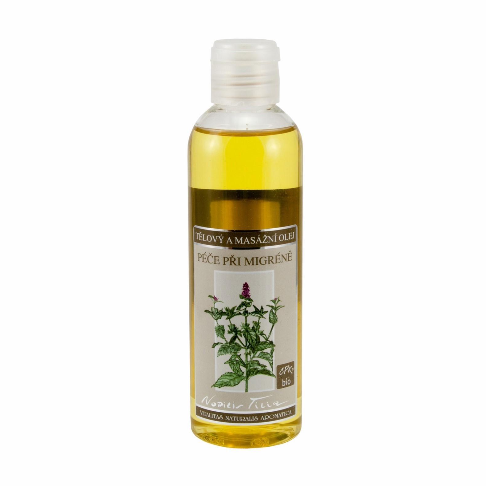 Nobilis Tilia Tělový a masážní olej Péče při migréně 200 ml