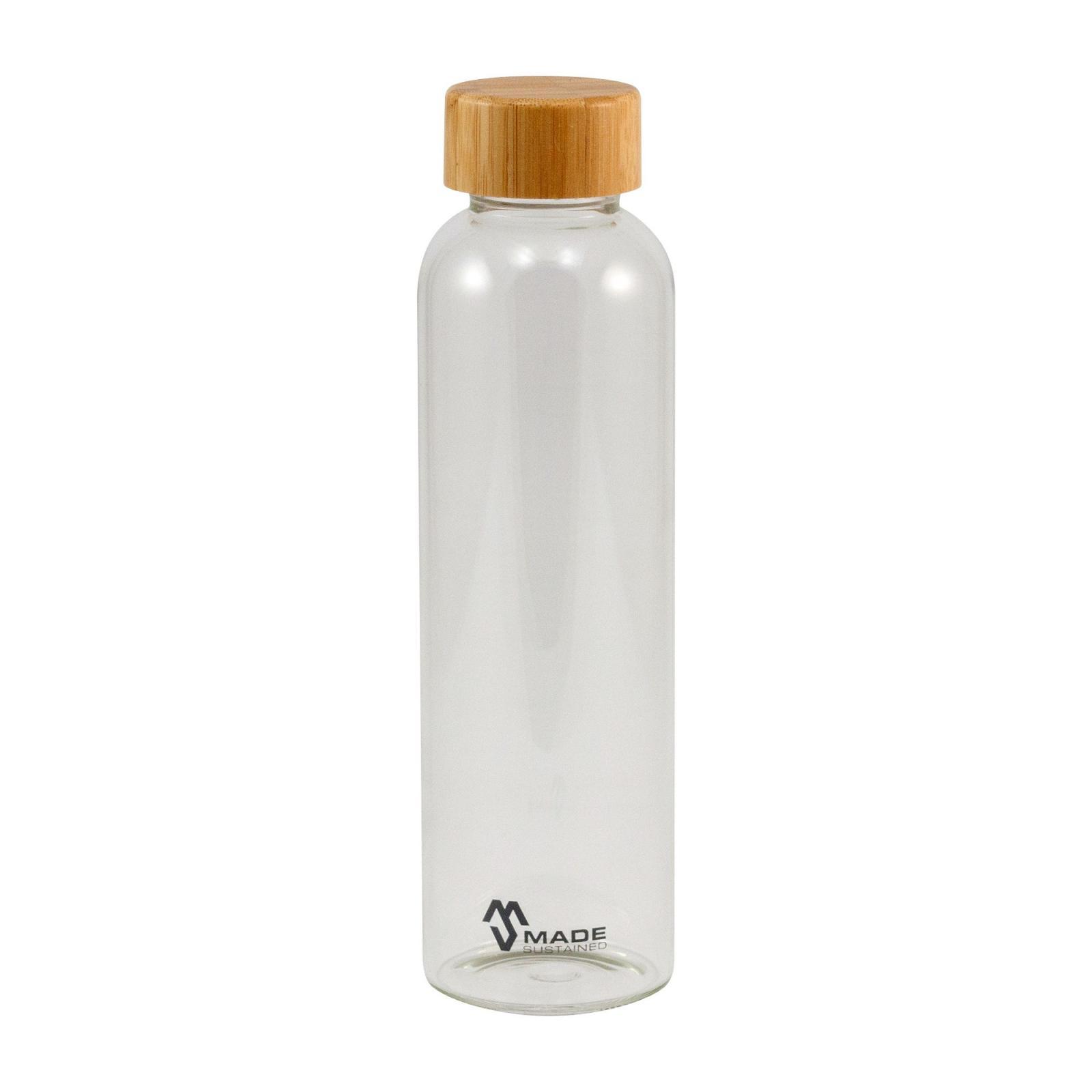 Made Sustained Skleněná láhev Knight s bambusovým víčkem 550 ml