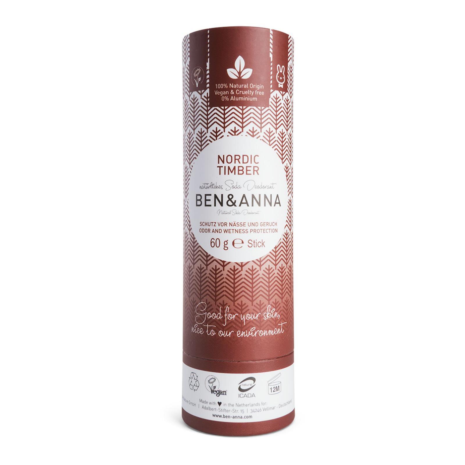 Ben & Anna Tuhý deodorant 60 g, severské dřevo