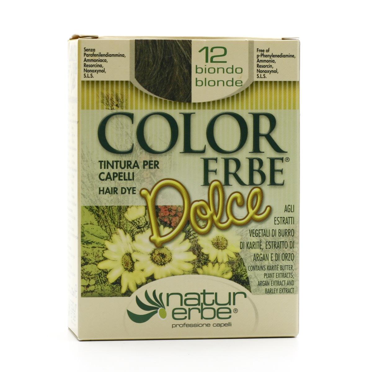 Color Erbe Barva na vlasy Popelavá blond 12, Dolce 135 ml