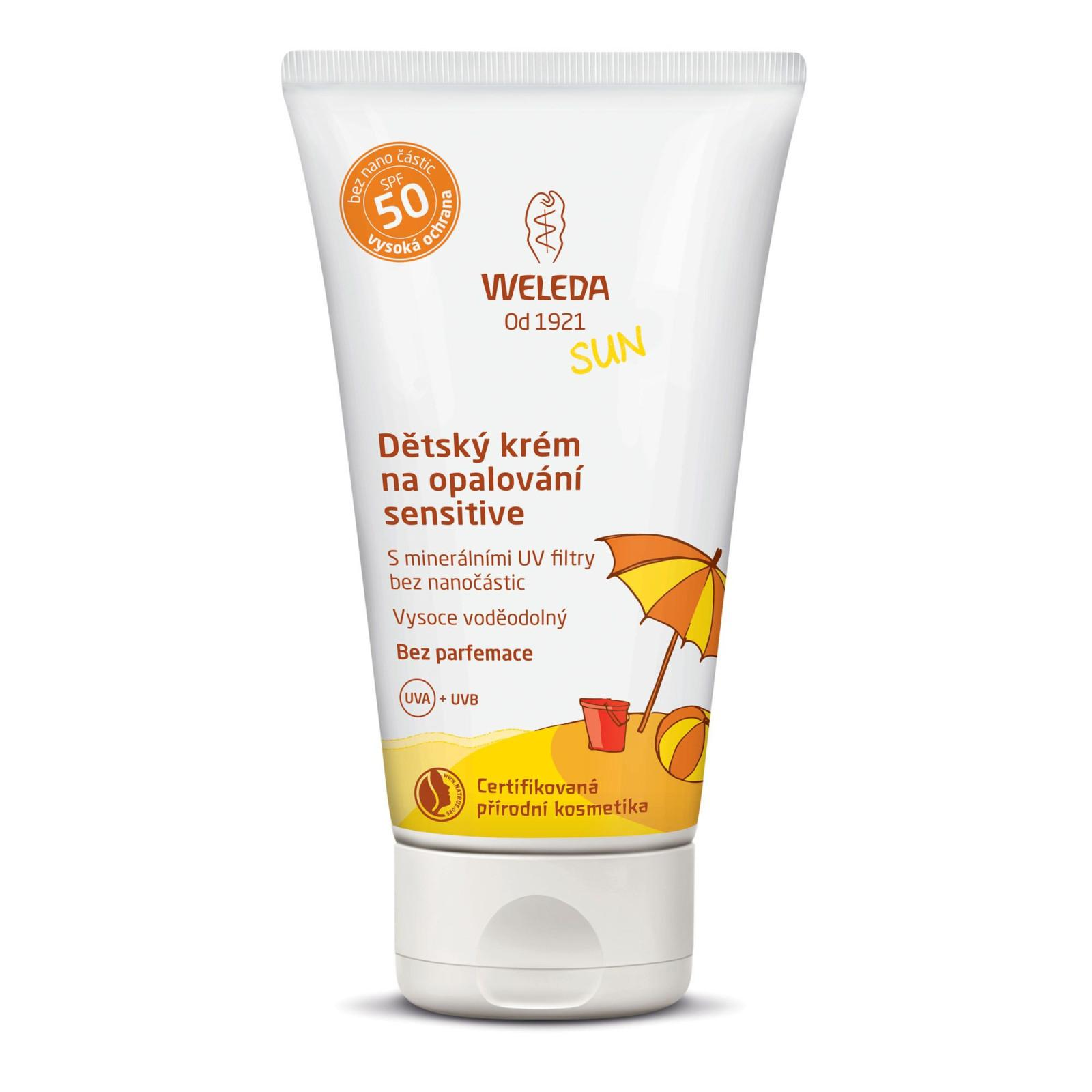 Weleda Sun Dětský krém na opalování SPF 50 sensitive 50 ml