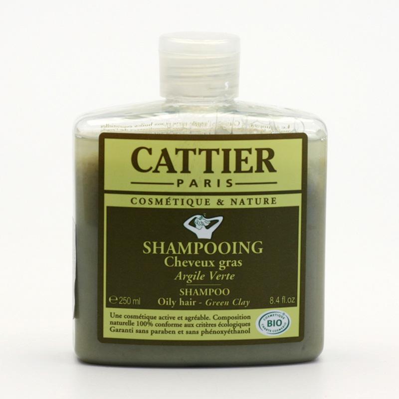 Cattier Šampon na mastné vlasy se zeleným jílem 250 ml