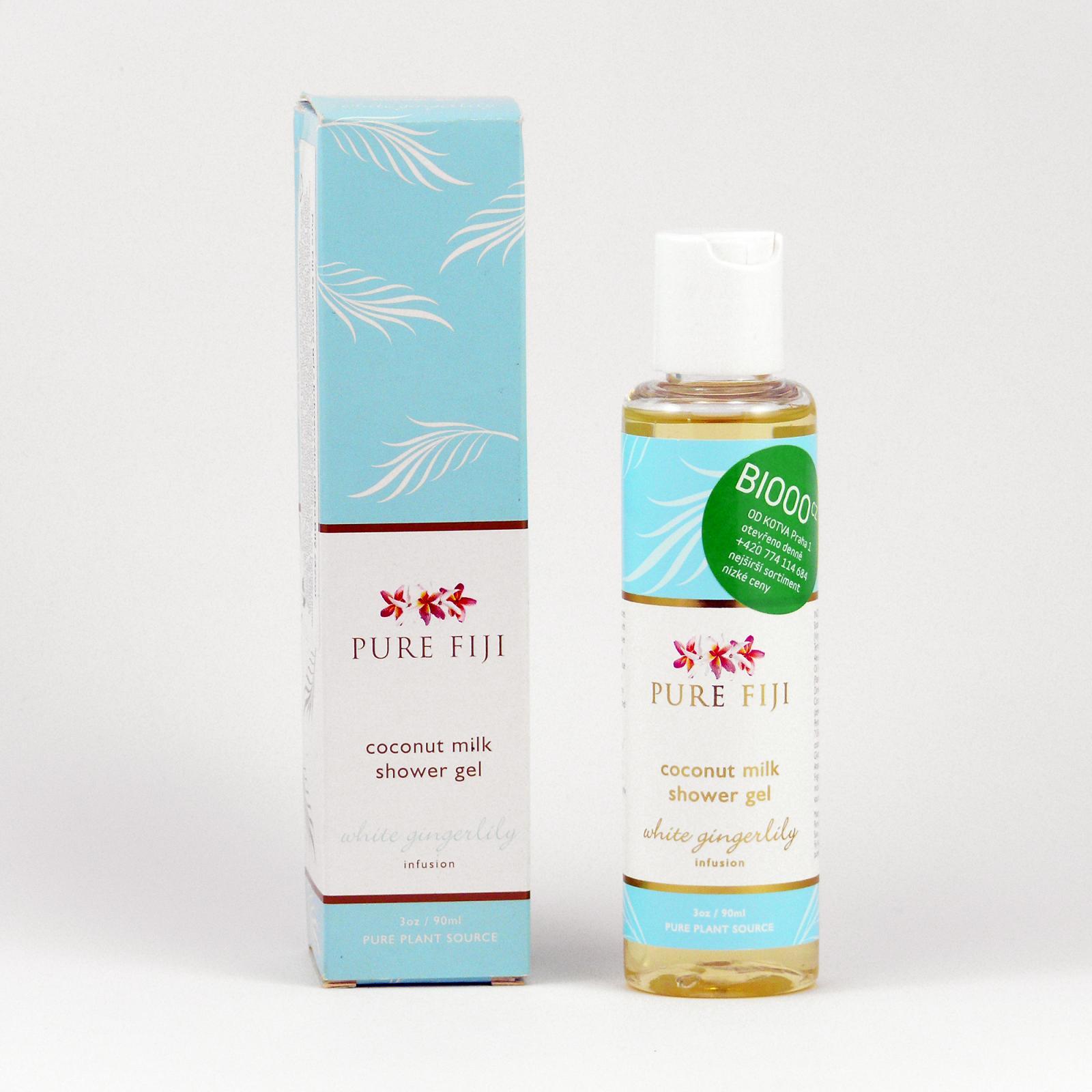 Pure Fiji Kokosový sprchový gel, zázvor 90 ml