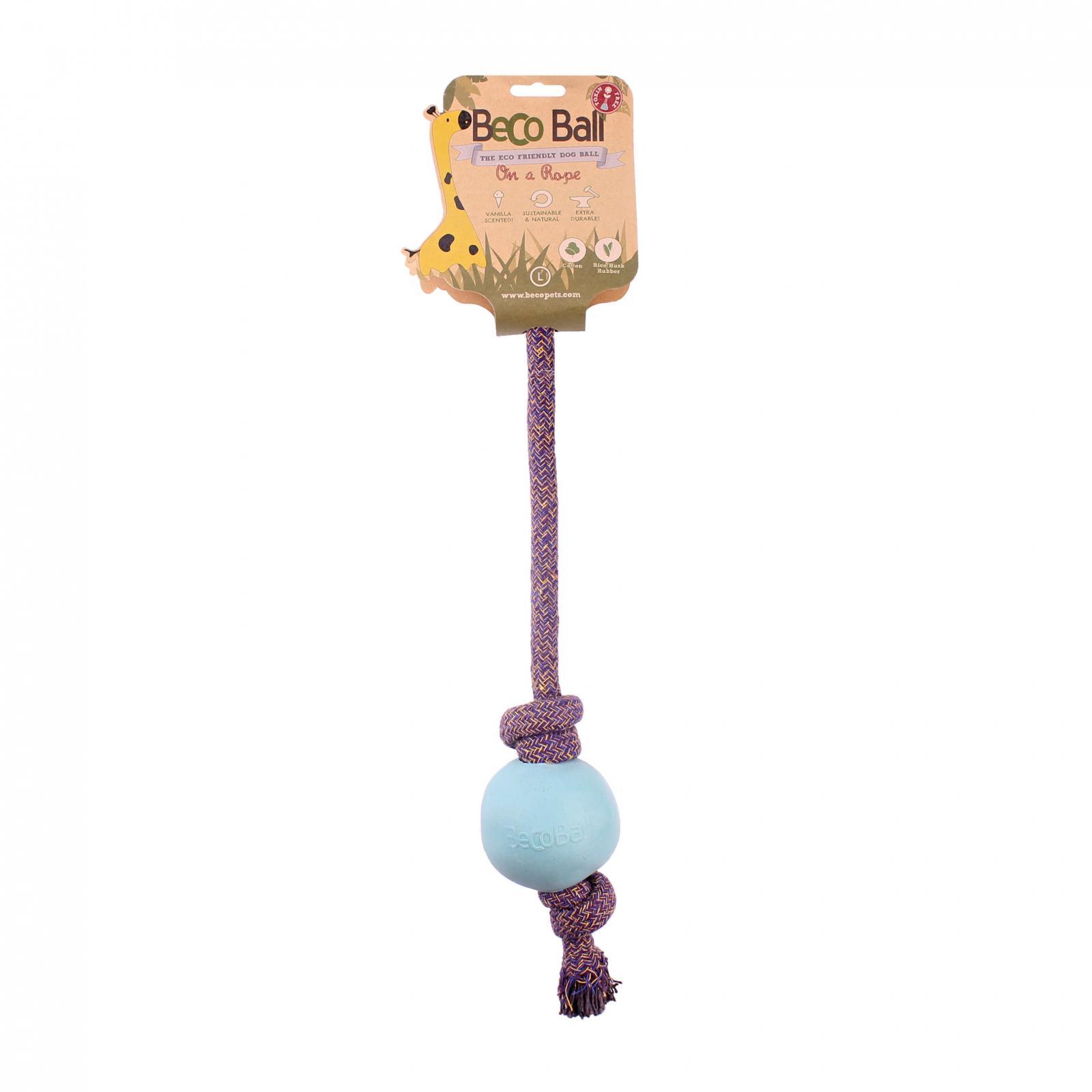 Beco Pets Beco Rope Ball Large 1 ks, modrá