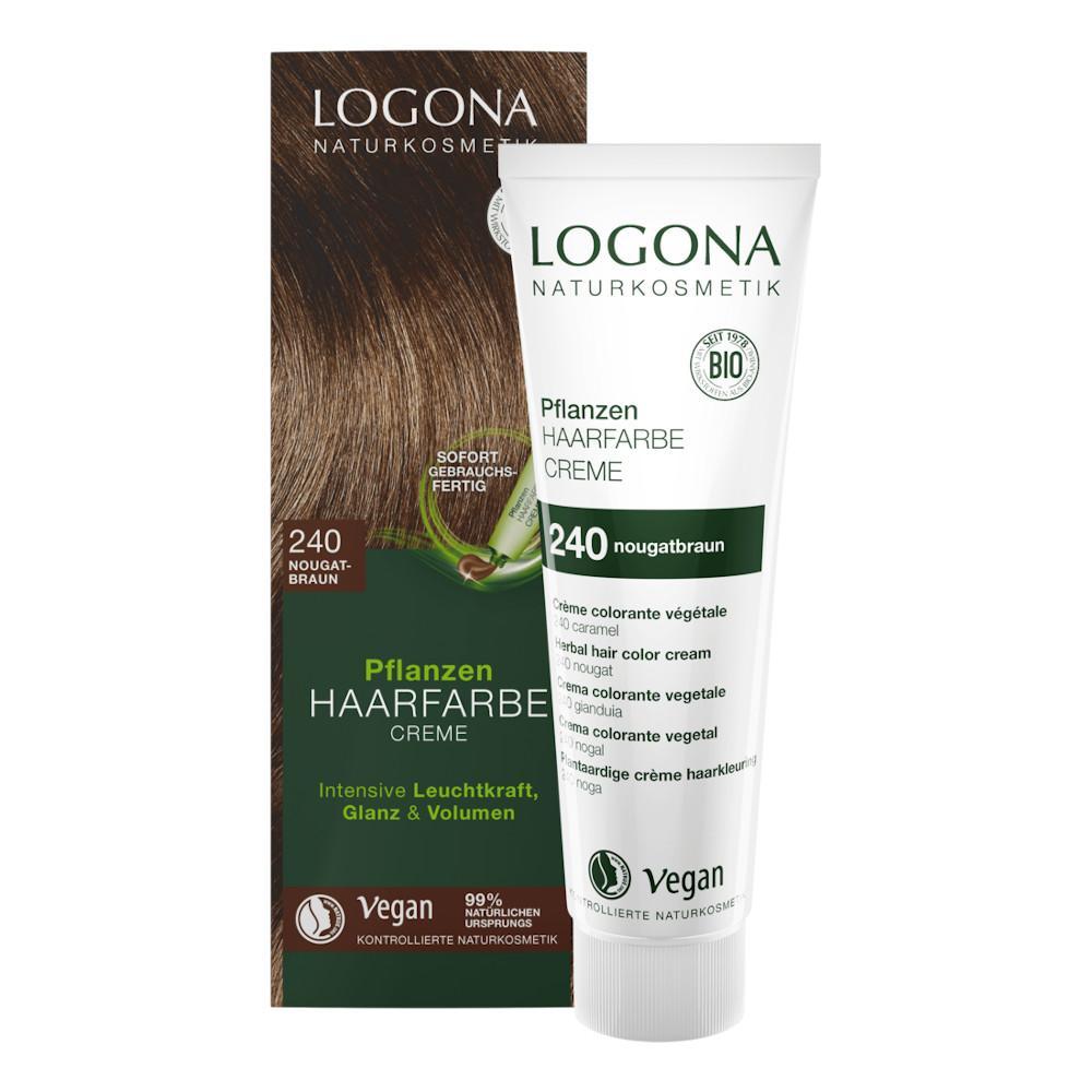 Logona Krémová barva na vlasy nugátová hnědá, 240 150 ml