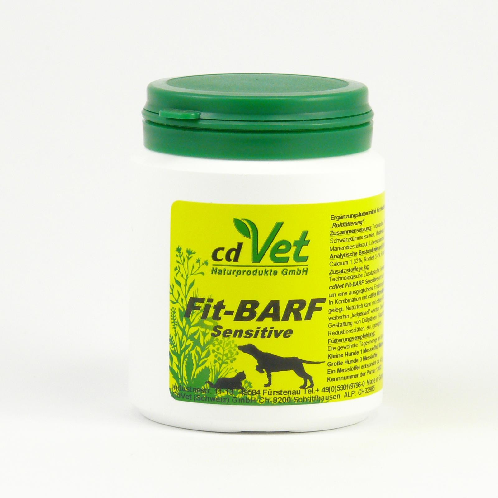CdVet Doplněk výživy pro psy a kočky Fit Barf Sensitive 120 g