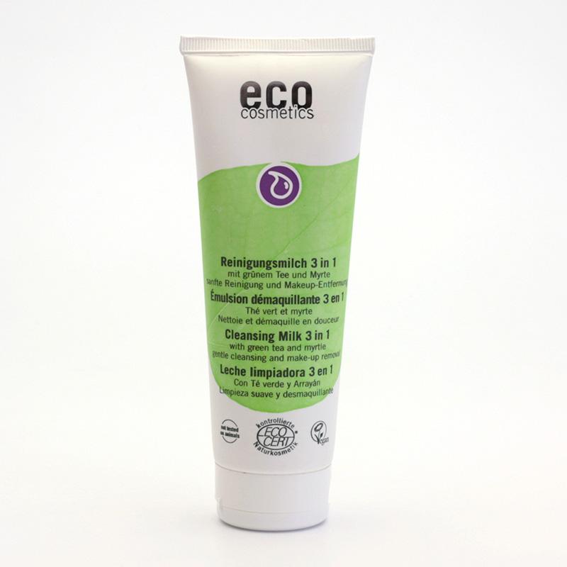 Eco Cosmetics Mléko čistící 3v1 zelený čaj/myrta 125 ml