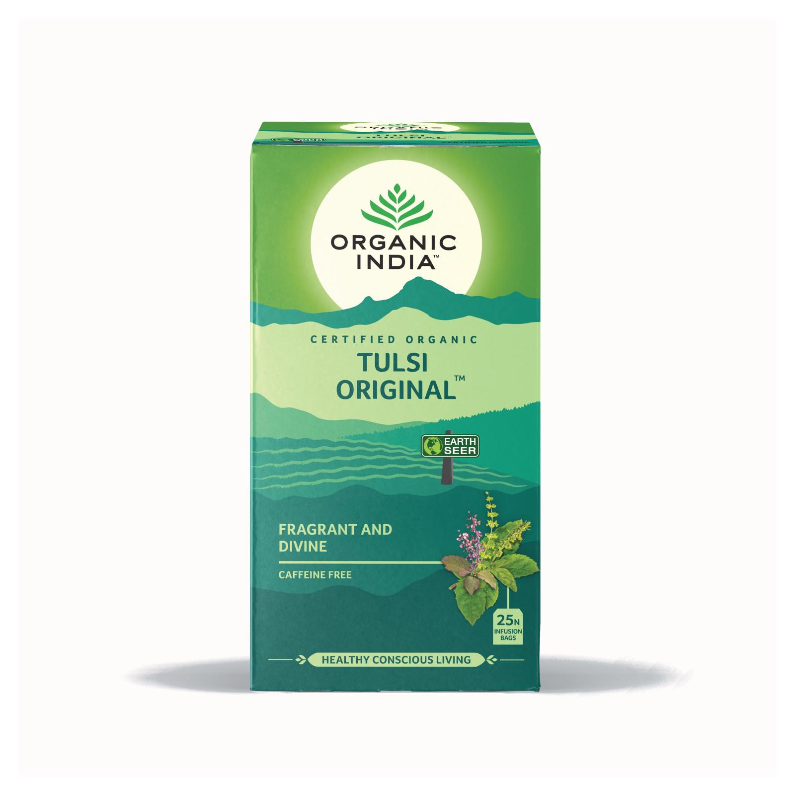 Organic India Čaj Tulsi Original, porcovaný, bio 43,5 g, 25 ks