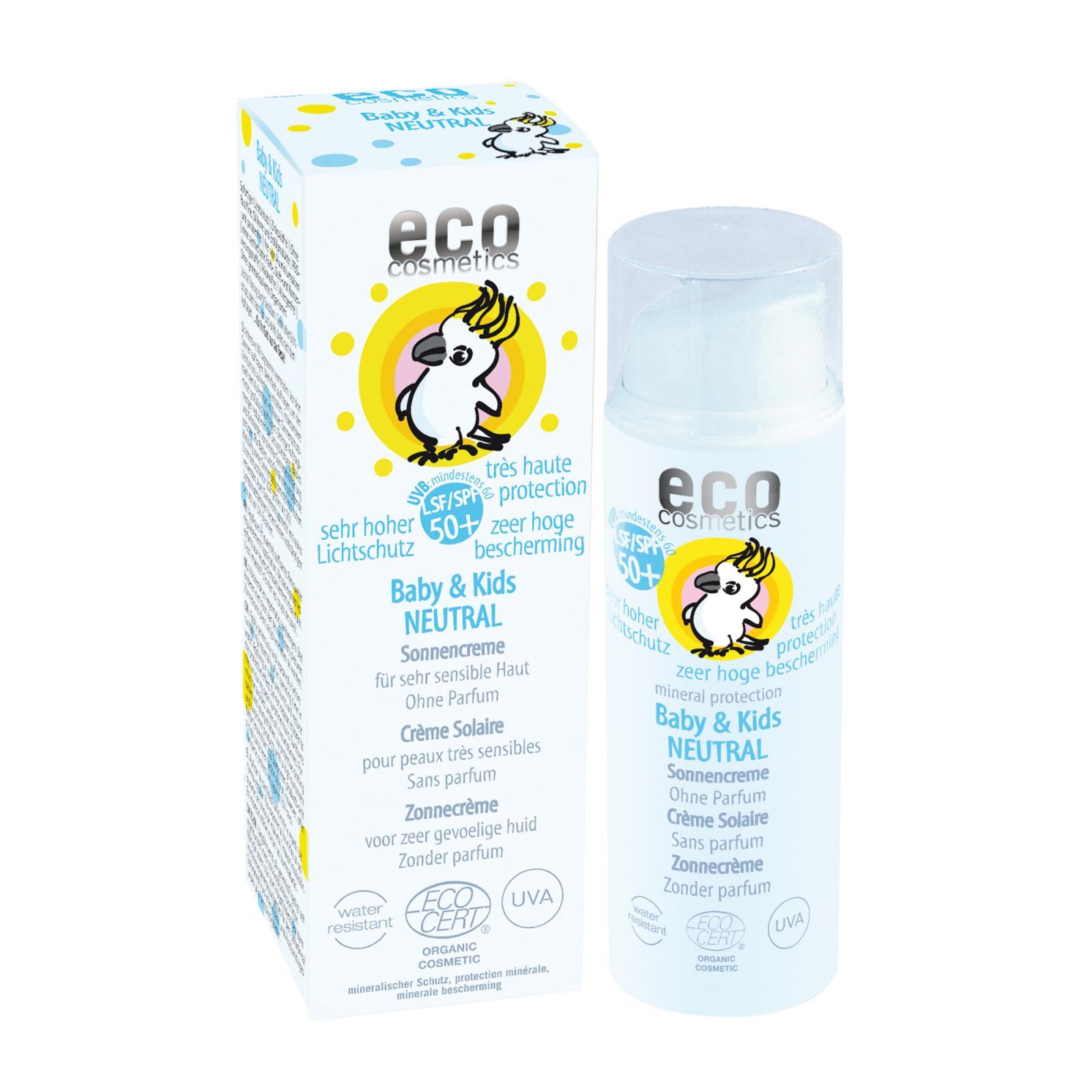 Eco Cosmetics Dětský opalovací krém SPF 50+, Neutral 50 ml
