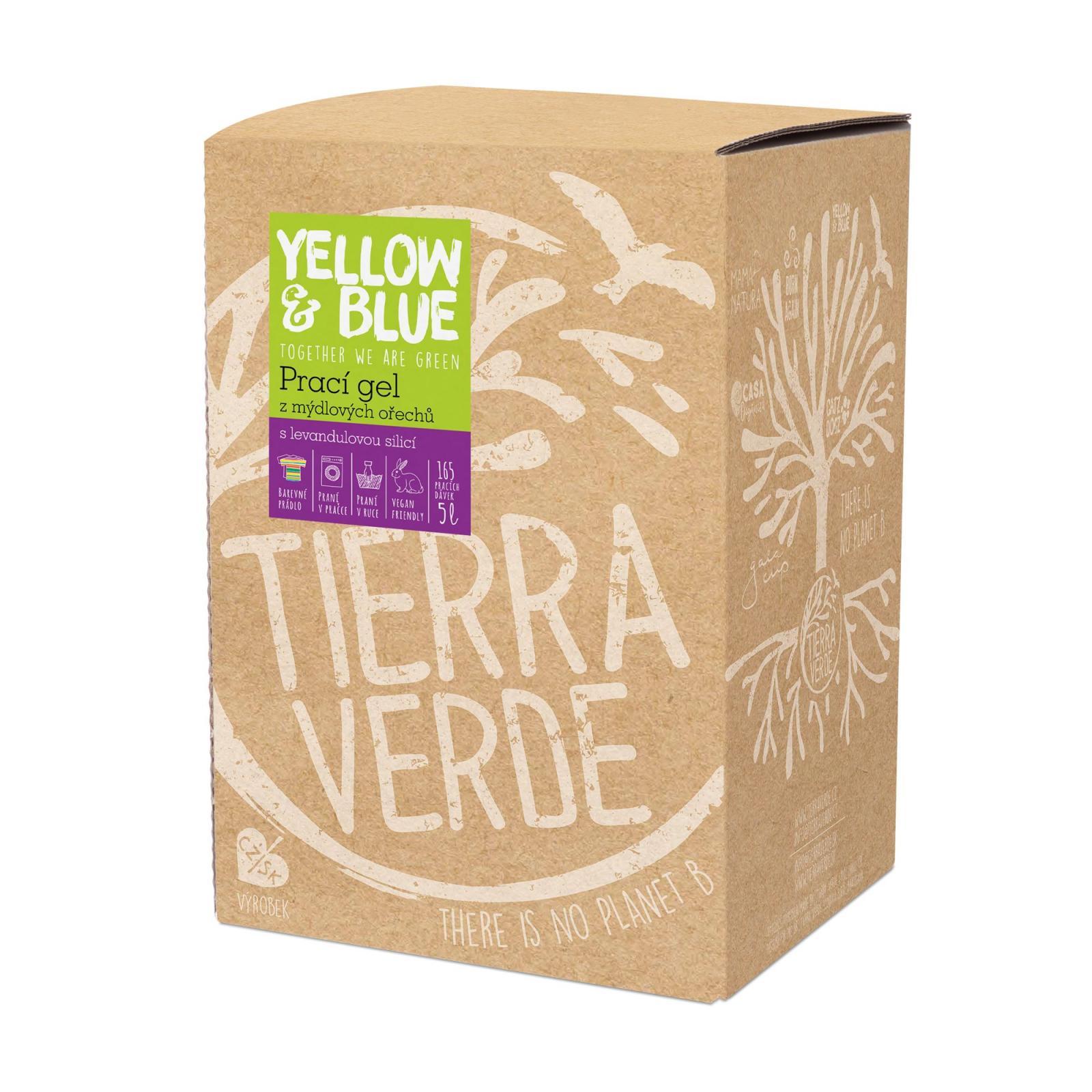 Yellow and Blue Prací gel z mýdlových ořechů levandule 5 l bag-in-box