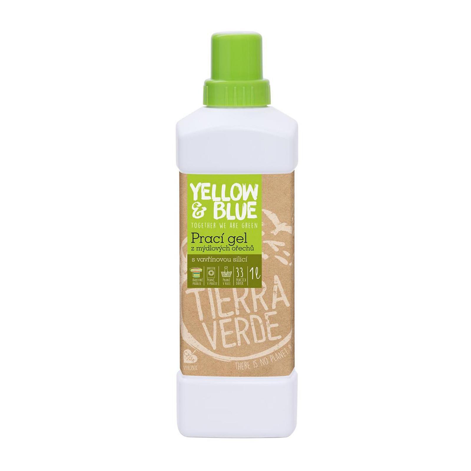 Yellow and Blue Prací gel z ořechů vavřín kubébový 1 l