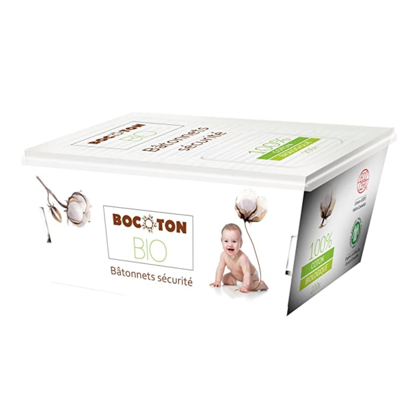 Bocoton Vatové tyčinky z biobavlny pro děti, cotton safety buds 60 ks