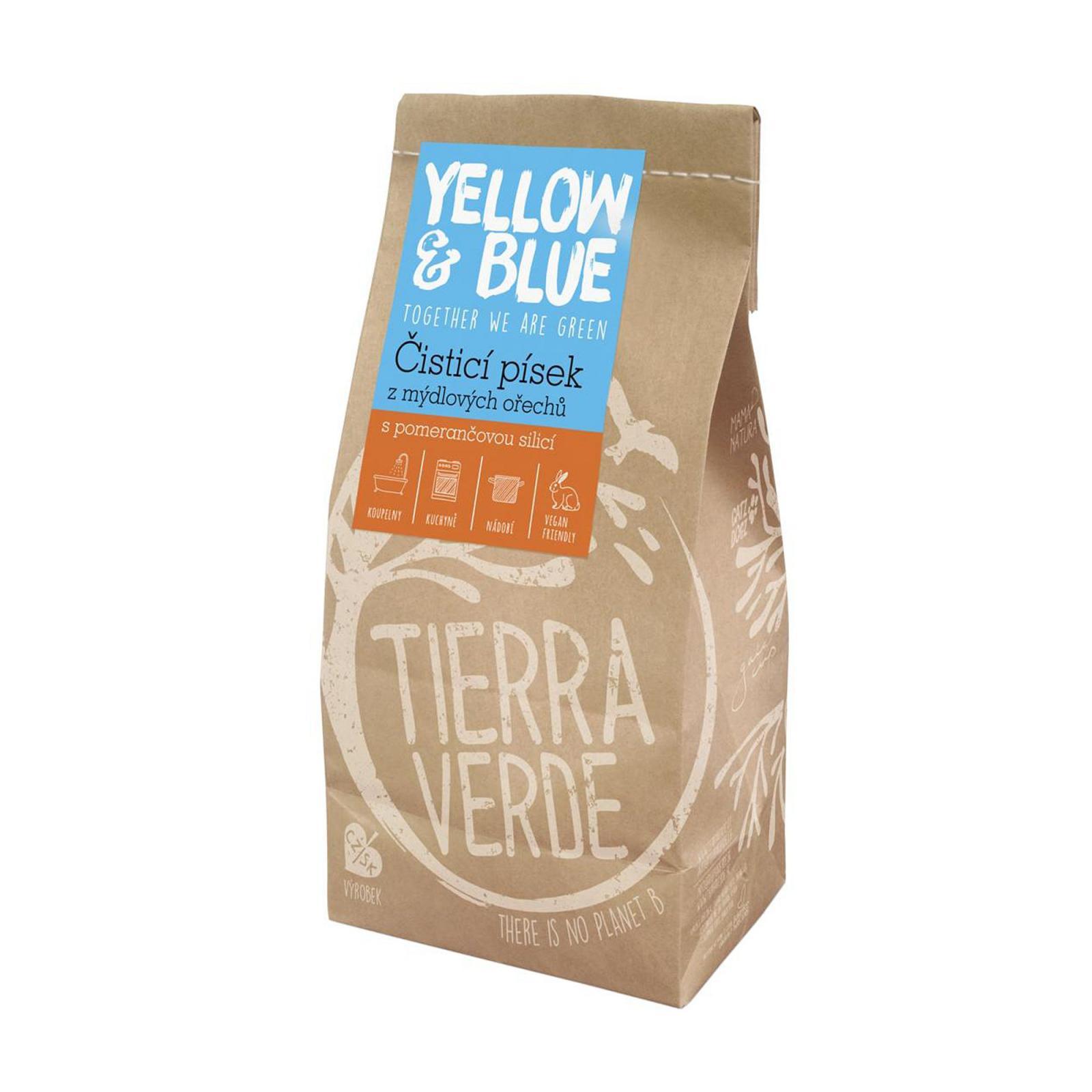 Yellow and Blue Čisticí písek z mýdlových ořechů 1 kg