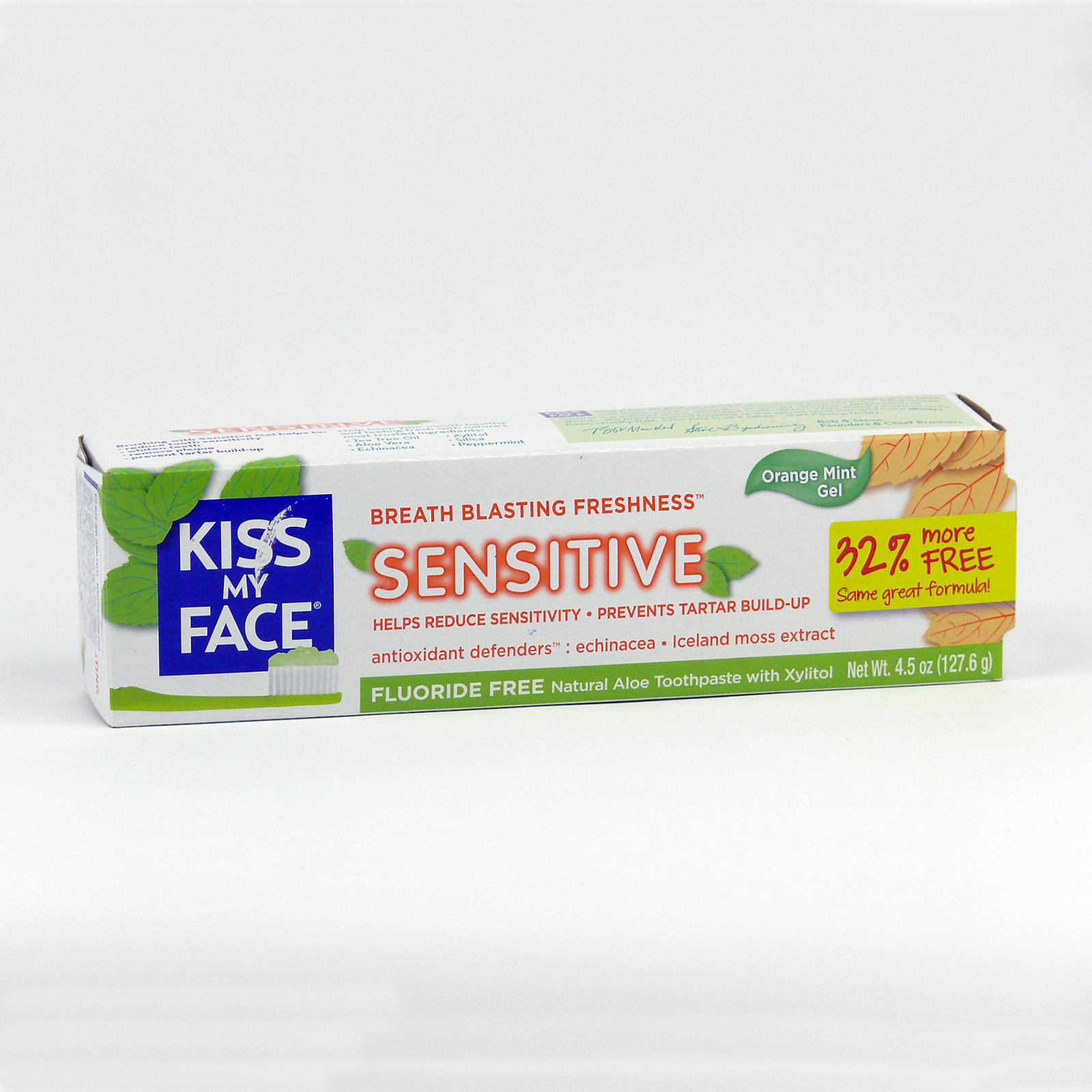 Kiss My Face Corp. Zubní gel Sensitive, bez fluoridu 127,6 g