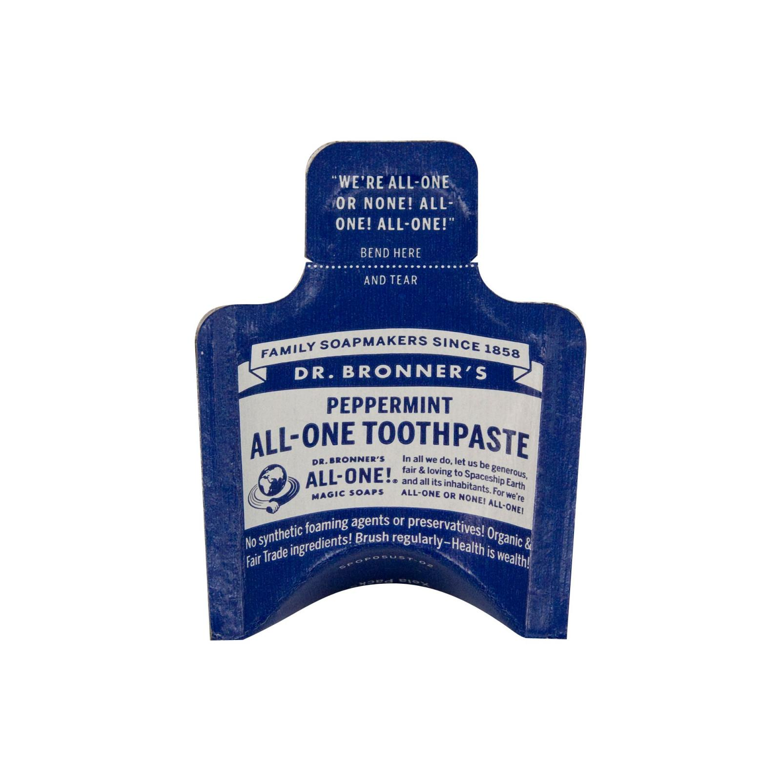 Dr. Bronner's Zubní pasta, Peppermint 5 ml