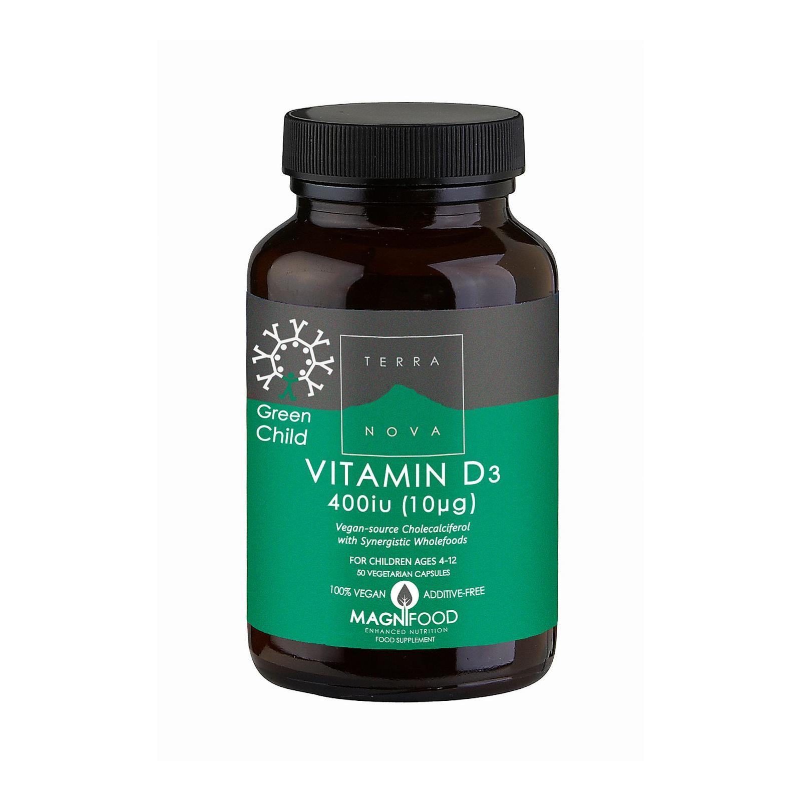Terranova Health Vitamin D3 pro děti 50 ks, (kapslí)