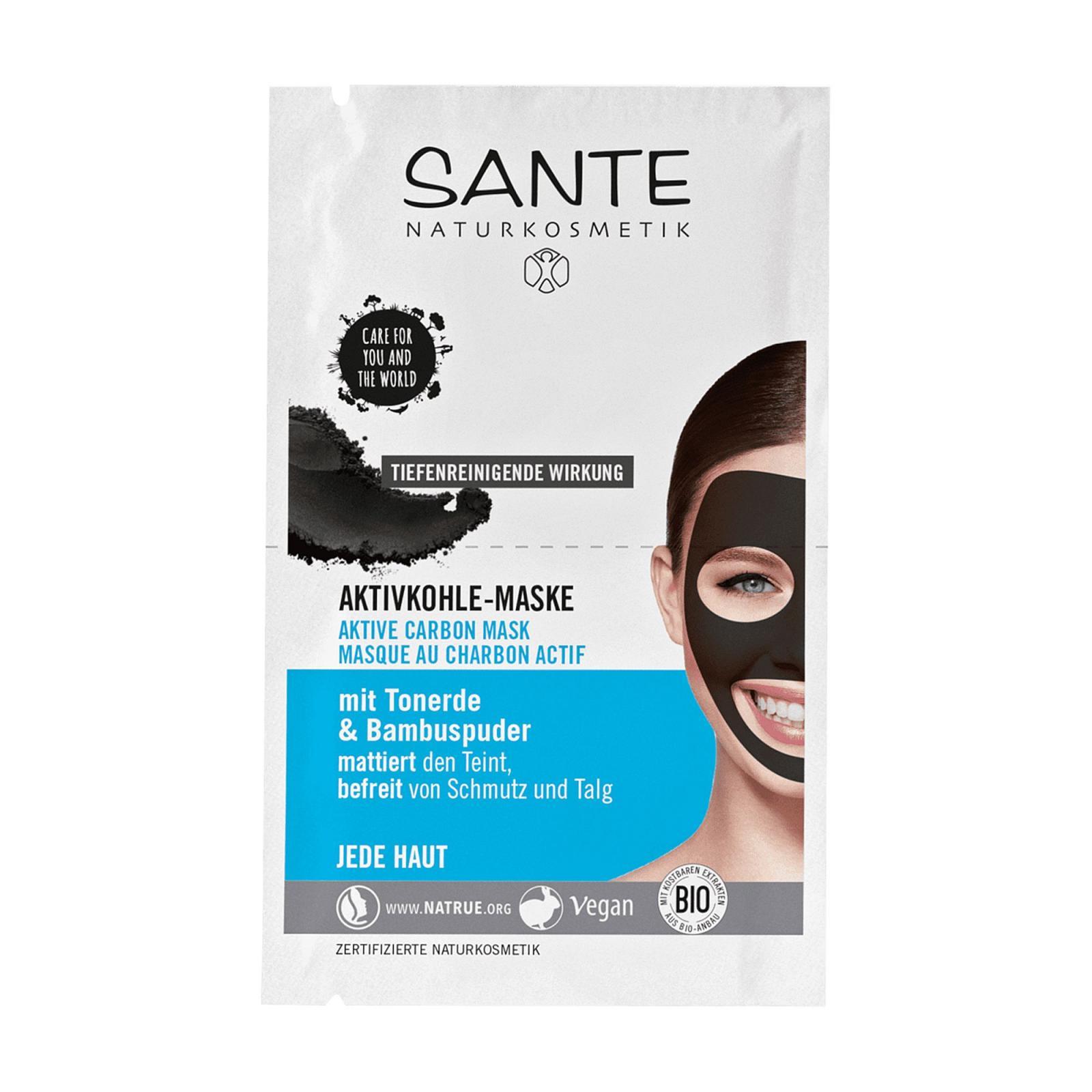 SANTE Pleťová maska s aktivním uhlím 2 x 4 ml