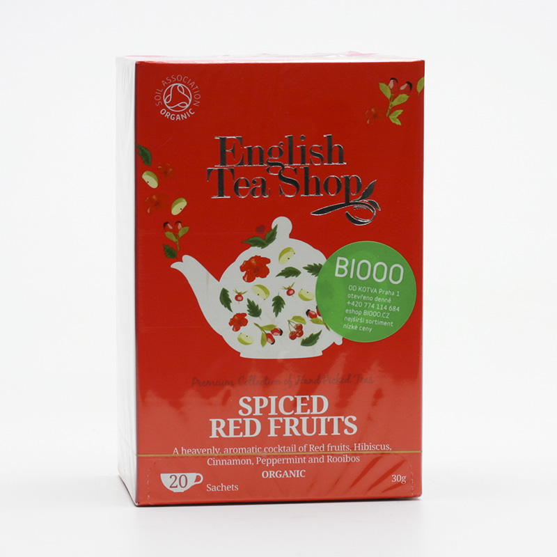 English Tea Shop Kořeněné červené ovoce 20 ks, 30 g