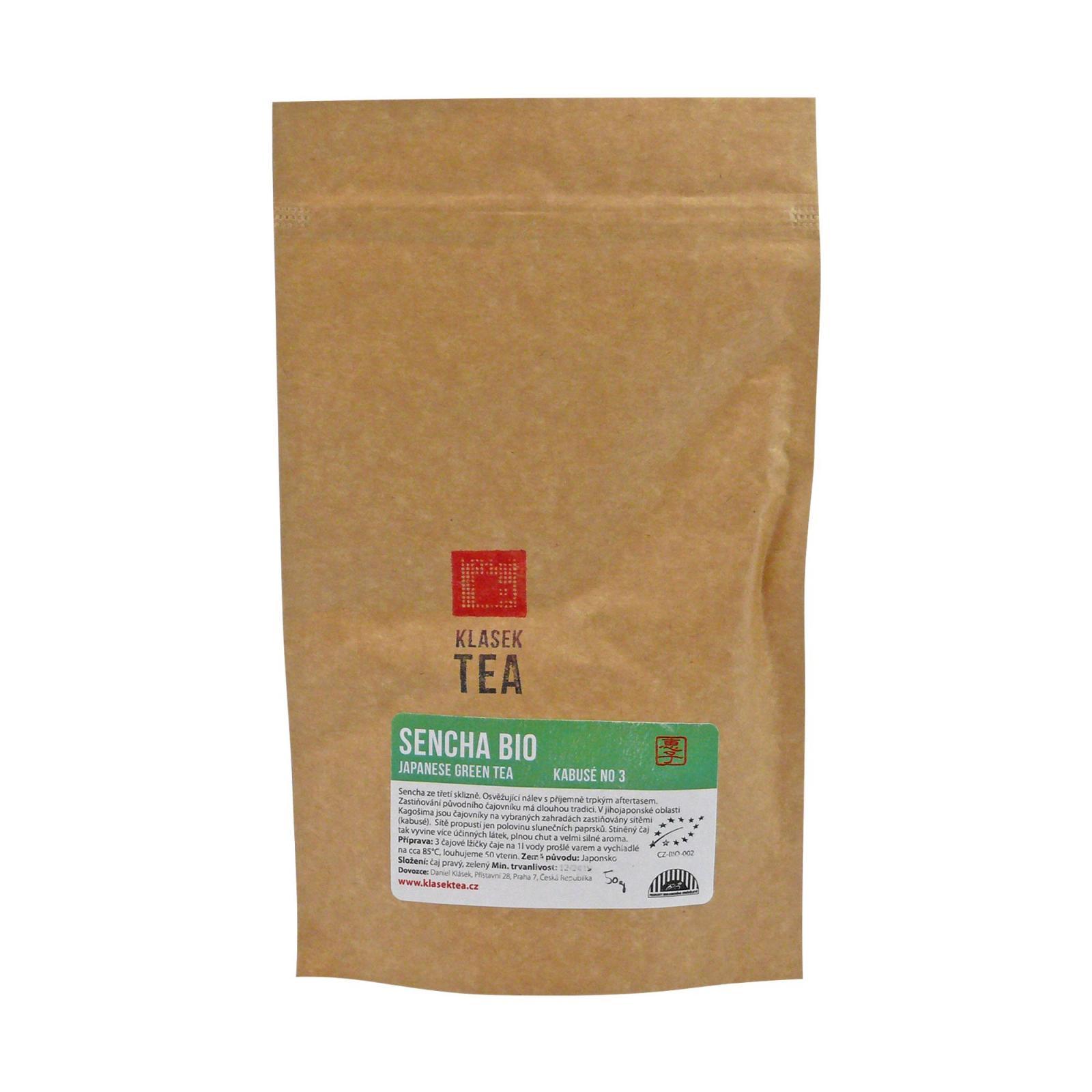 Klasek Tea Zelený čaj Sencha Kabuse No 3, bio 50 g