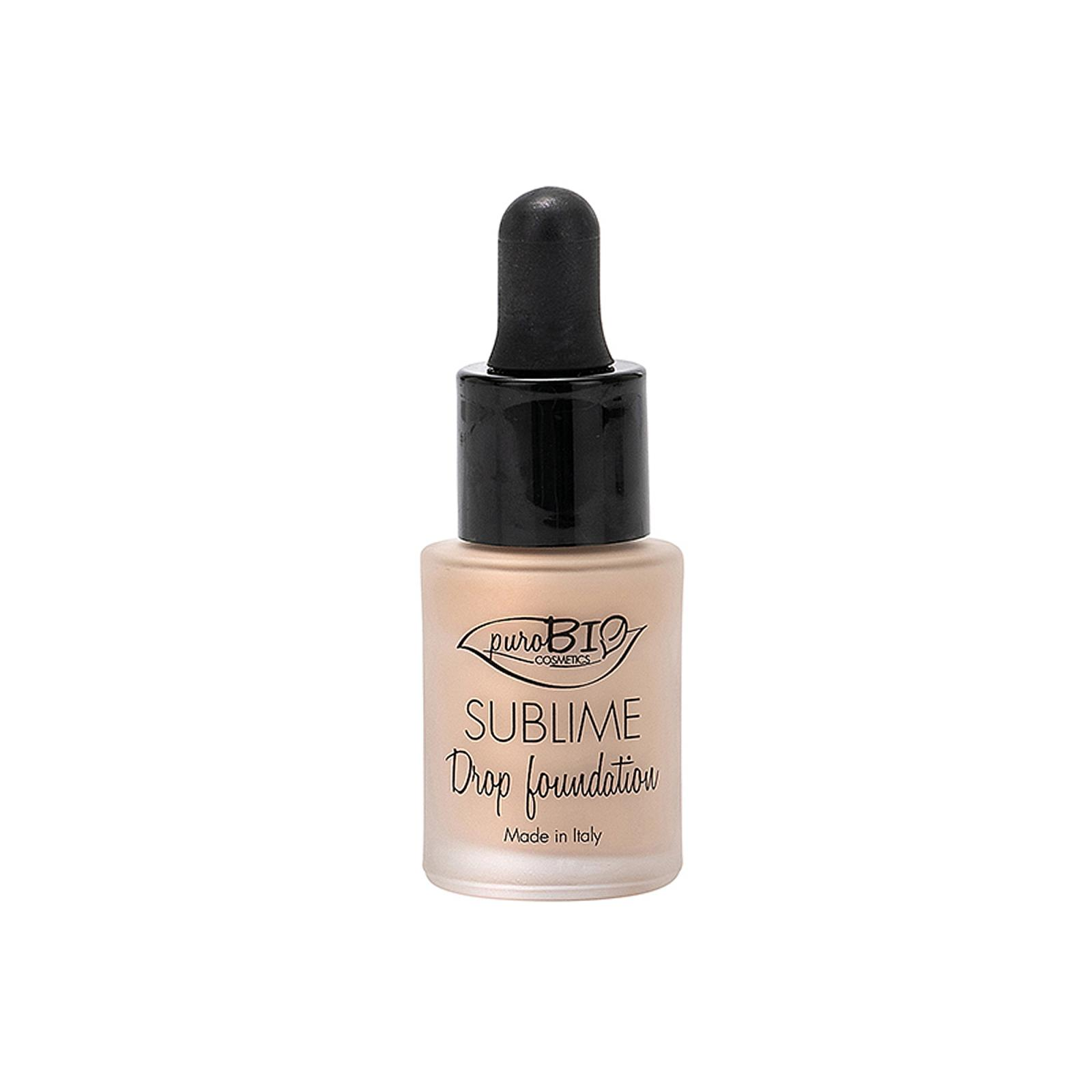 puroBIO cosmetics Tekutý make-up 01 s SPF 10 19 g